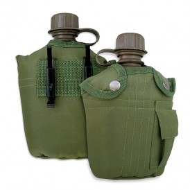 Water bottle with case