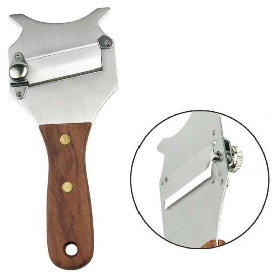 Truffle mandolin with serrated blade