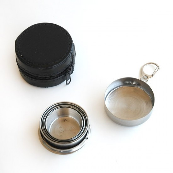 Stainless steel telescopic tumbler 7,5 cm