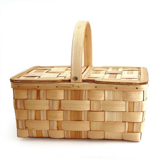 Chestnut basket with lids n5