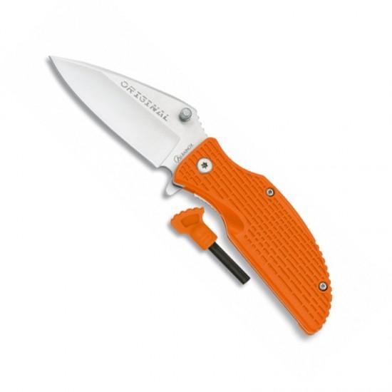 Knife with orange flint