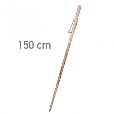 Bastón de madera natural con pincho...