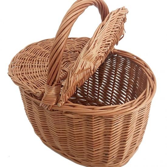 Wicker basket with lids
