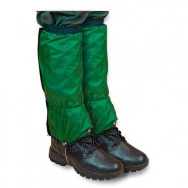 Nylon gaiter with zipper green color