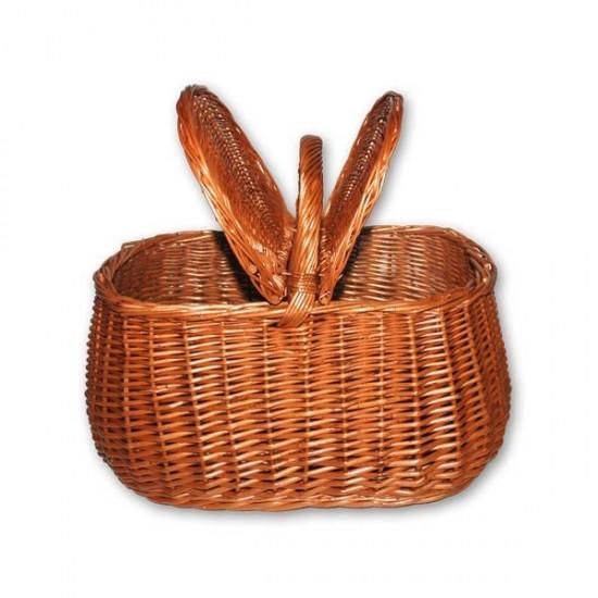 Wicker basket with lids 01