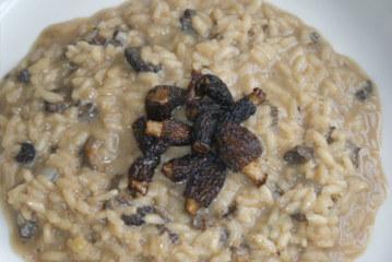 Risotto o arroz meloso con setas