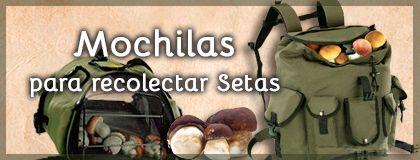 Mochilas para recoleccion de setas y hongos