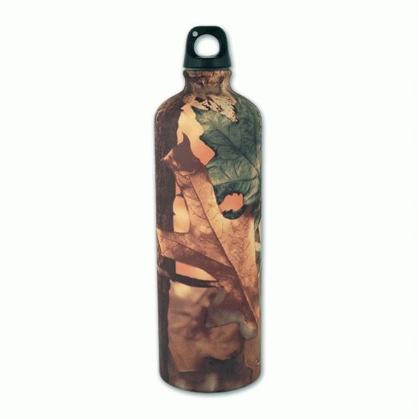 Botella de aluminio 1 l. Camo Hojas