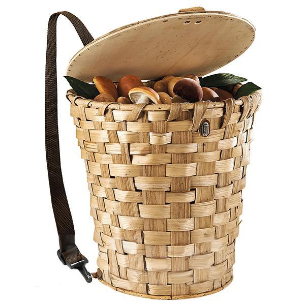 Cuévano de castaño transportable como mochila