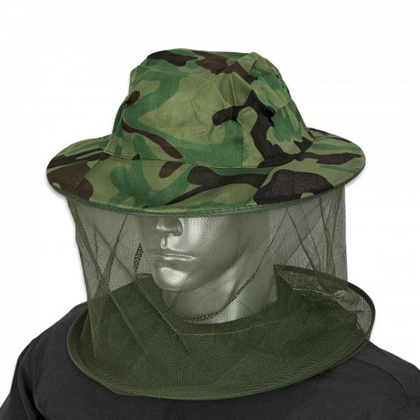 Camouflage mosquito net hat