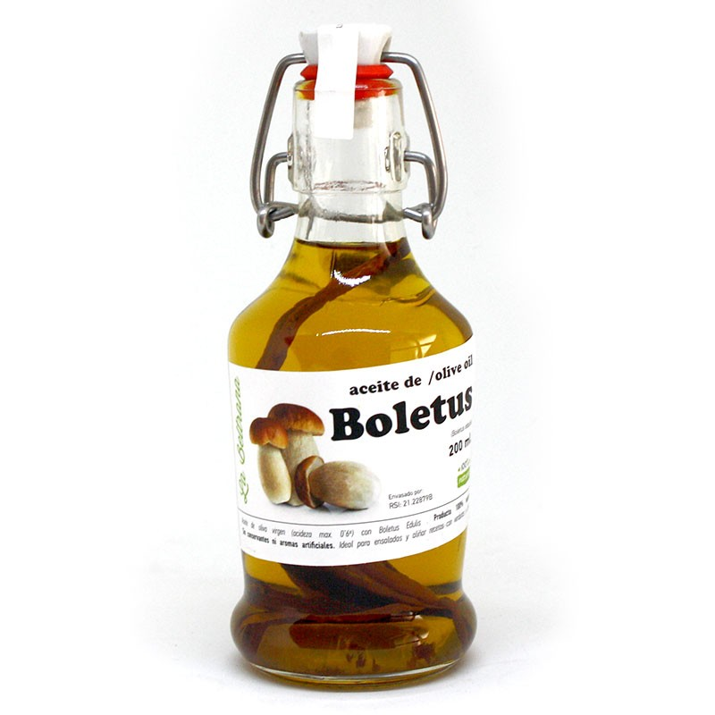 Olive oil with boletus