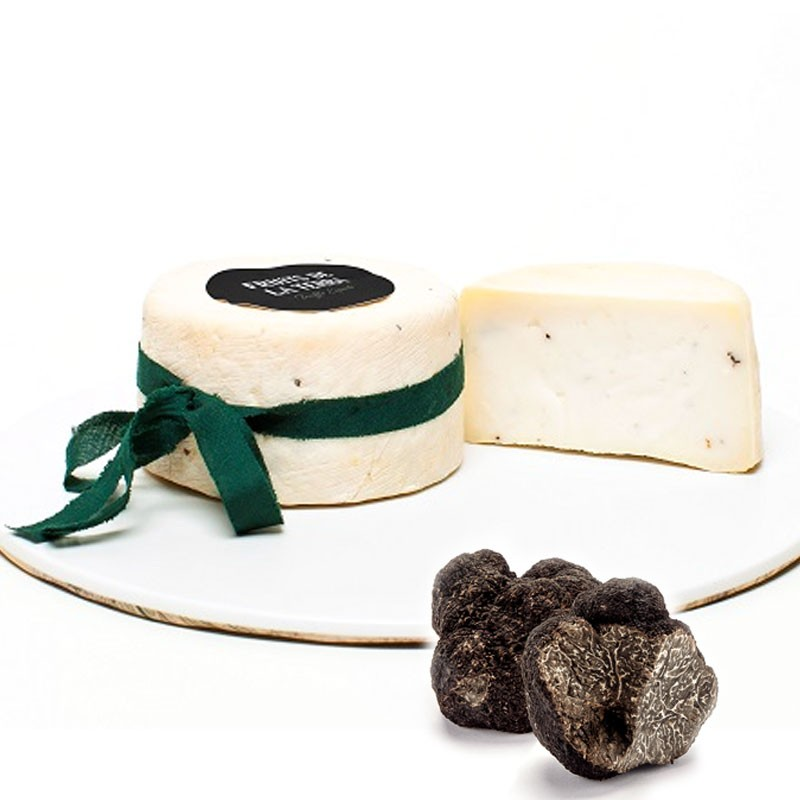 Artisan goat cheese with black truffle