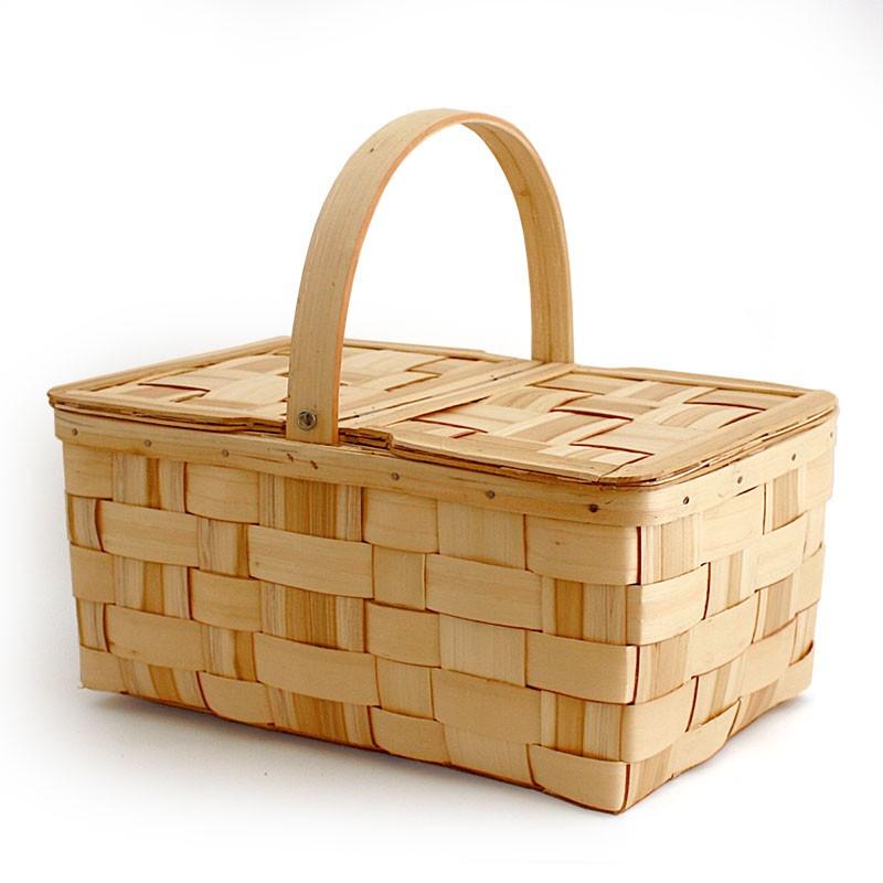 Chestnut basket with lids n4