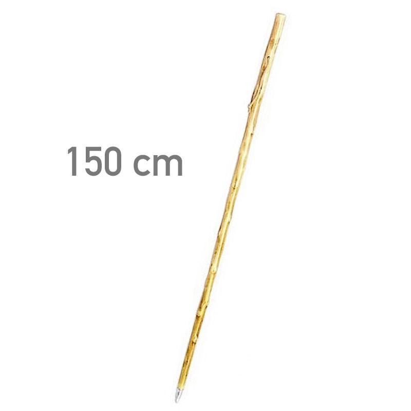 Bastón de castaño claro con pincho 150 cm